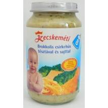 Brokkolis csirkehús tésztával és sajttal bébiétel